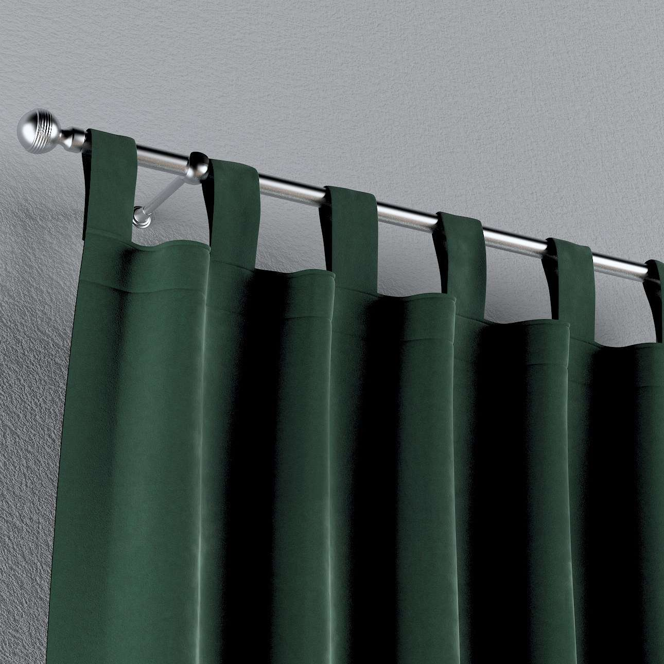 Zasłona na szelkach 1 szt. w kolekcji Velvet, tkanina: 704-25