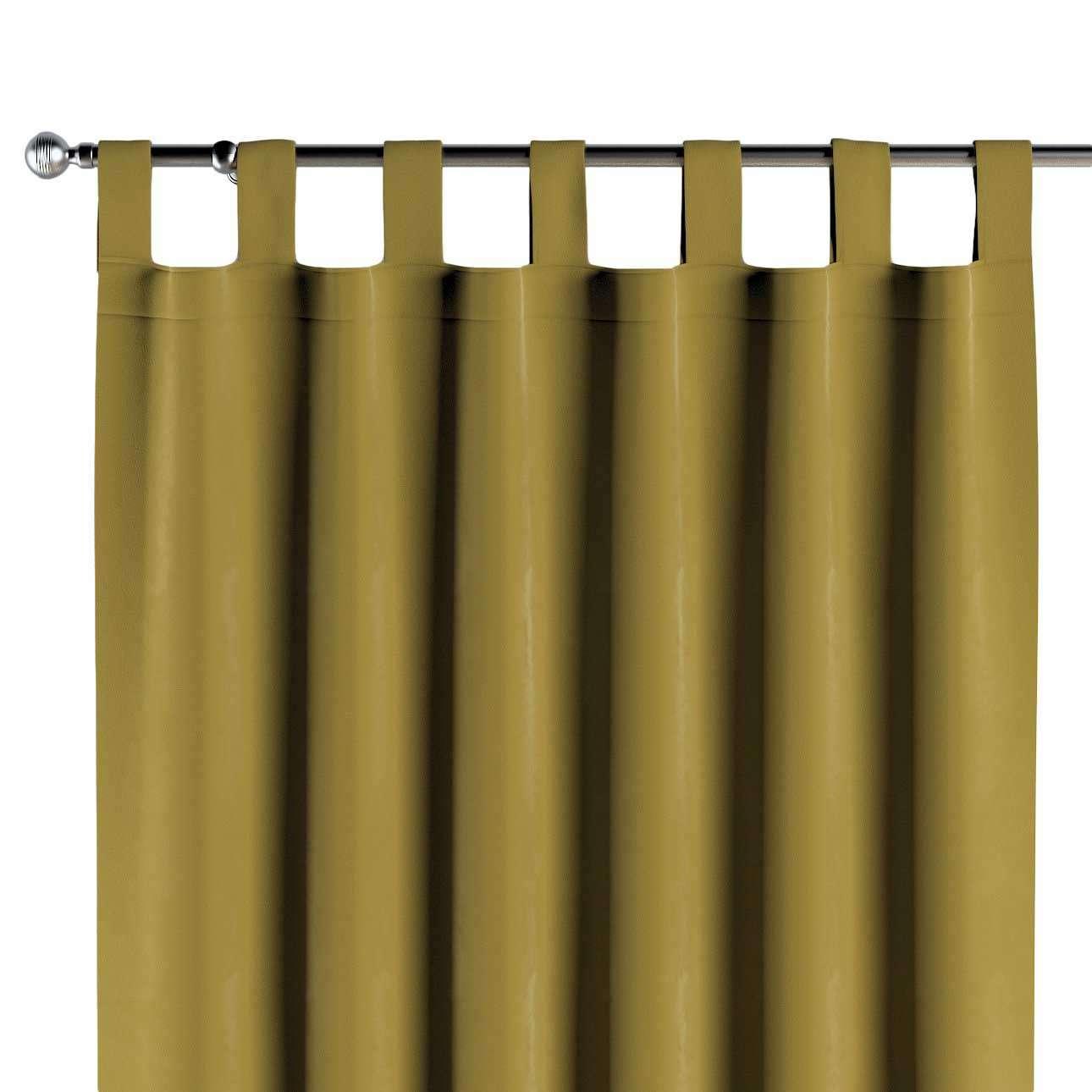 Schlaufenschal, olivegrün, 1 Stck. 130 × 260 cm, Velvet   Heimtextilien > Gardinen und Vorhänge > Schlaufenschals   Dekoria