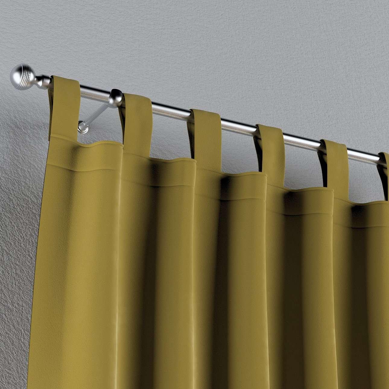 Zasłona na szelkach 1 szt. w kolekcji Velvet, tkanina: 704-27