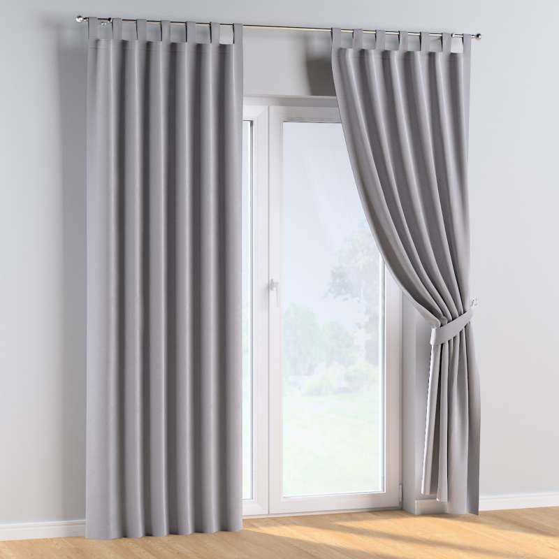 Tab top curtains in collection Posh Velvet, fabric: 704-24