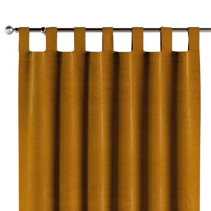 Tab top curtains in collection Posh Velvet, fabric: 704-23