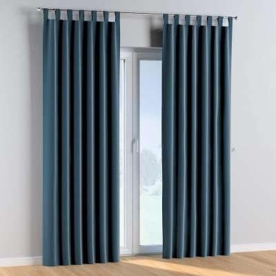 Tab top curtains 704-16 dark blue Collection Posh Velvet