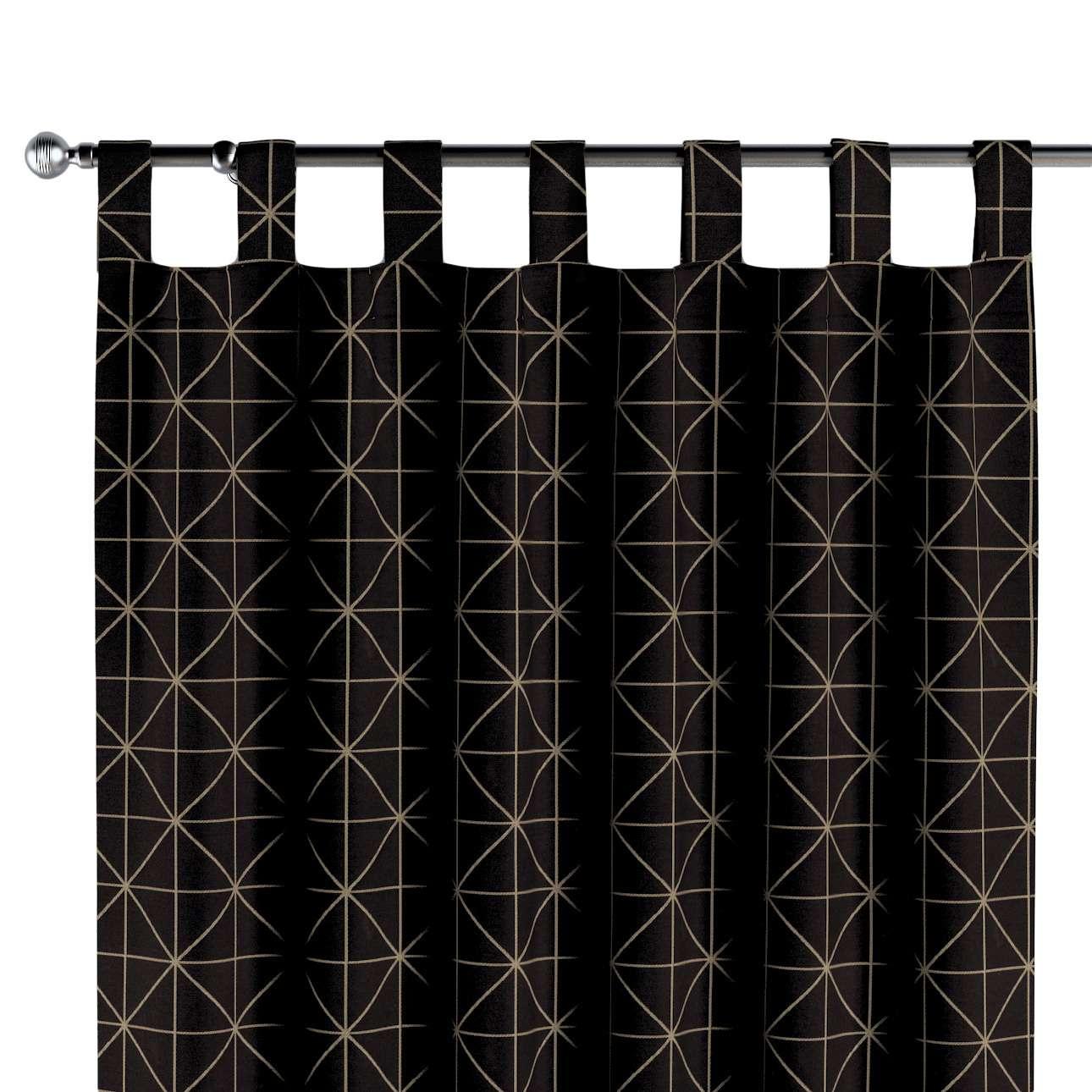 Gordijn met lussen van de collectie Black & White, Stof: 142-55
