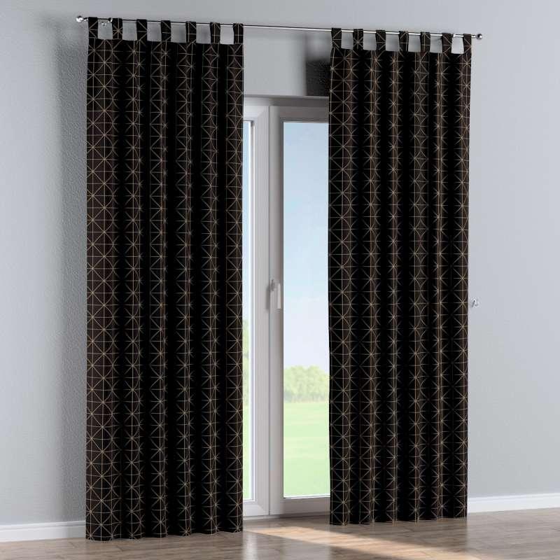 Gardin med stropper 1 stk. fra kollektionen Black & White, Stof: 142-55