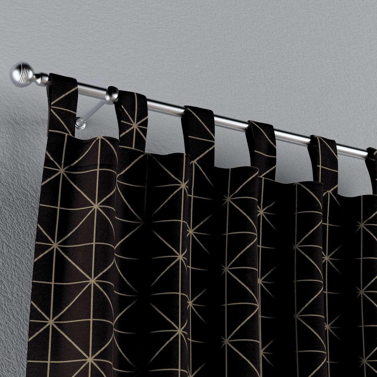Füles függöny a kollekcióból Black & White, Dekoranyag: 142-55