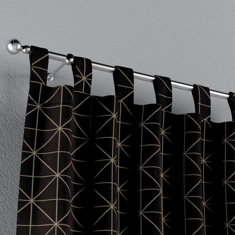 Gardin med stropper 1 stk. fra kolleksjonen Black & White, Stoffets bredde: 142-55