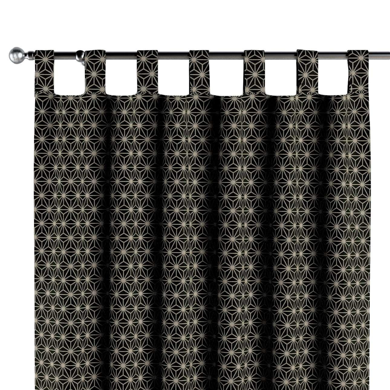 Füles függöny a kollekcióból Black & White szövet, Dekoranyag: 142-56