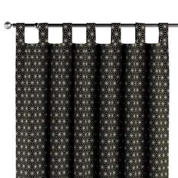 Závěs na poutka v kolekci Black & White, látka: 142-56