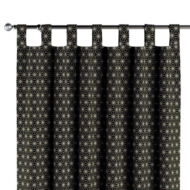 Gordijn met lussen van de collectie Black & White, Stof: 142-56