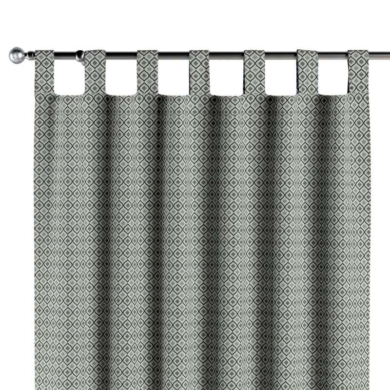 Záves na pútkach V kolekcii Black & White, tkanina: 142-76