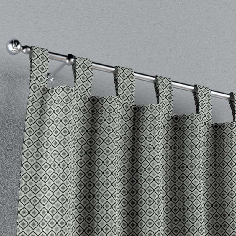 Gardin med stropper 1 stk. fra kollektionen Black & White, Stof: 142-76