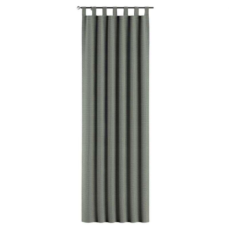 Gardin med stropper 1 stk. fra kollektionen Black & White, Stof: 142-77