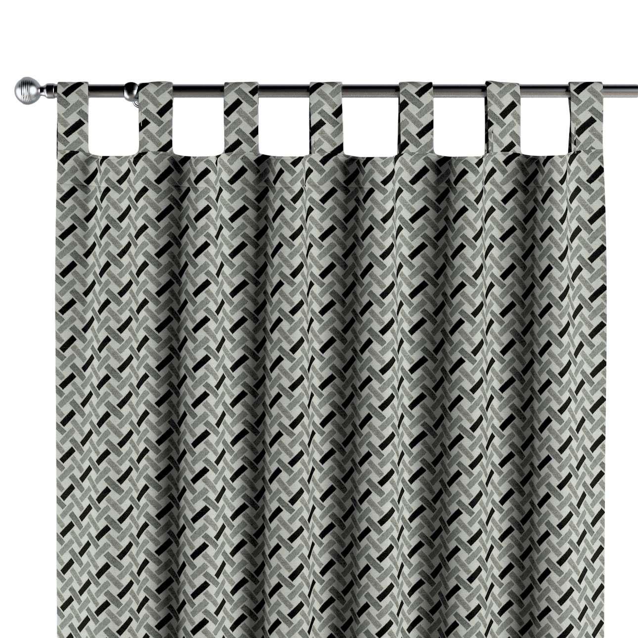 Gardin med stropper 1 stk. fra kollektionen Black & White, Stof: 142-78