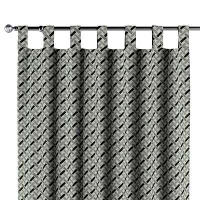 Užuolaidos kilpinio klostavimo 1 vnt. 142-78 juoda-balta Kolekcija Black & White