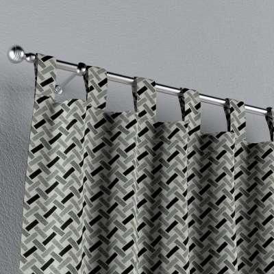 Zasłona na szelkach 1 szt. w kolekcji Black & White, tkanina: 142-78