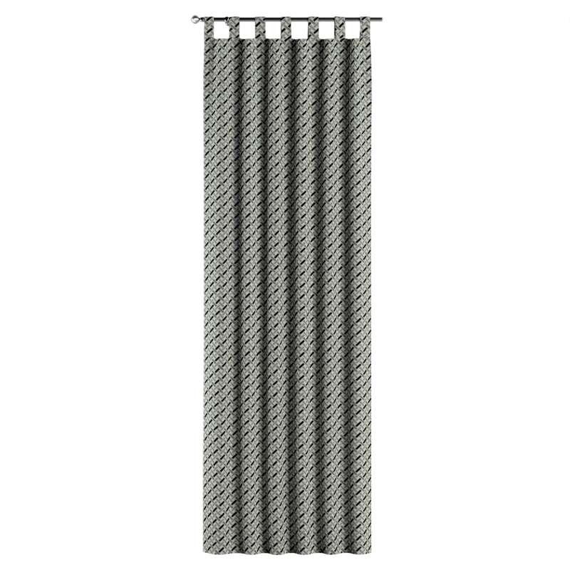 Füles függöny a kollekcióból Black & White szövet, Dekoranyag: 142-78