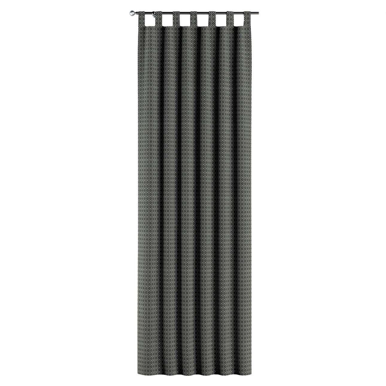 Füles függöny a kollekcióból Black & White szövet, Dekoranyag: 142-86