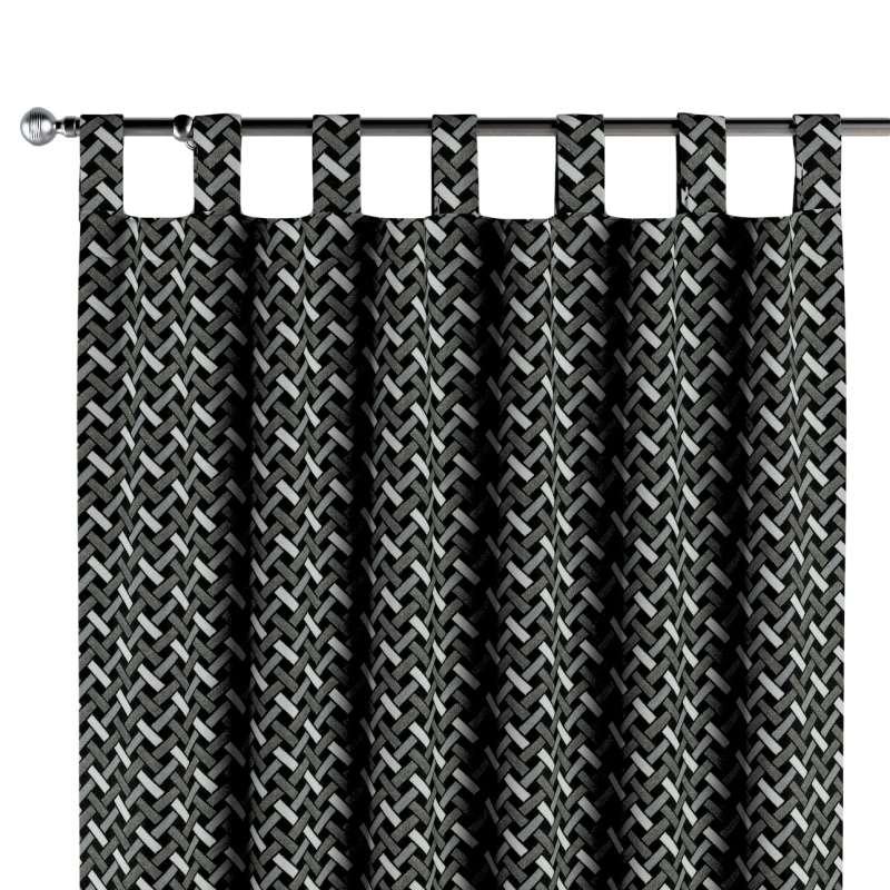 Gardin med stropper 1 stk. fra kollektionen Black & White, Stof: 142-87