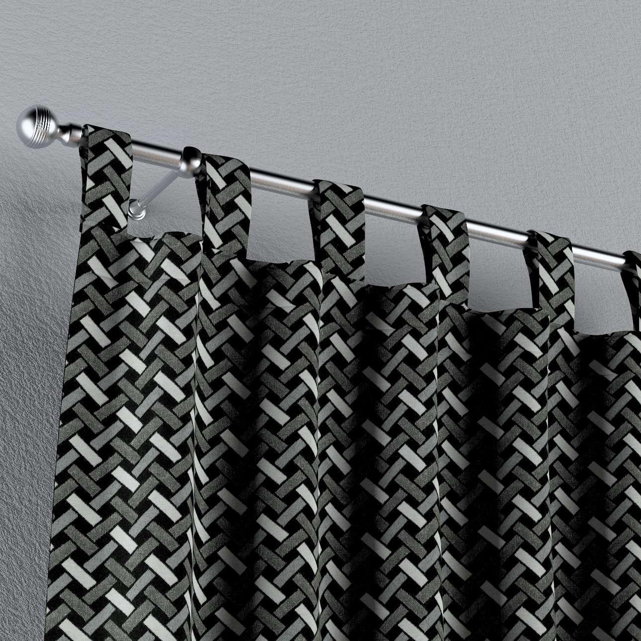 Füles függöny a kollekcióból Black & White, Dekoranyag: 142-87