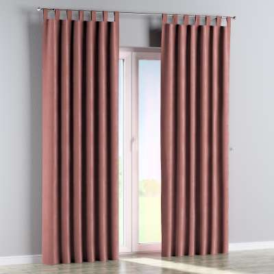 Tab top curtain 704-30 pale coral Collection Velvet