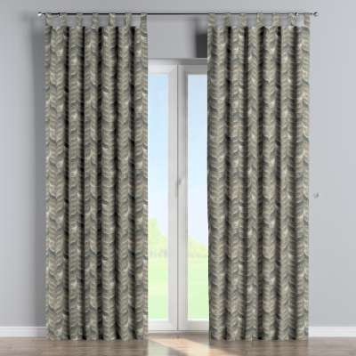Tab top curtain 143-12 grey-brown Collection Abigail