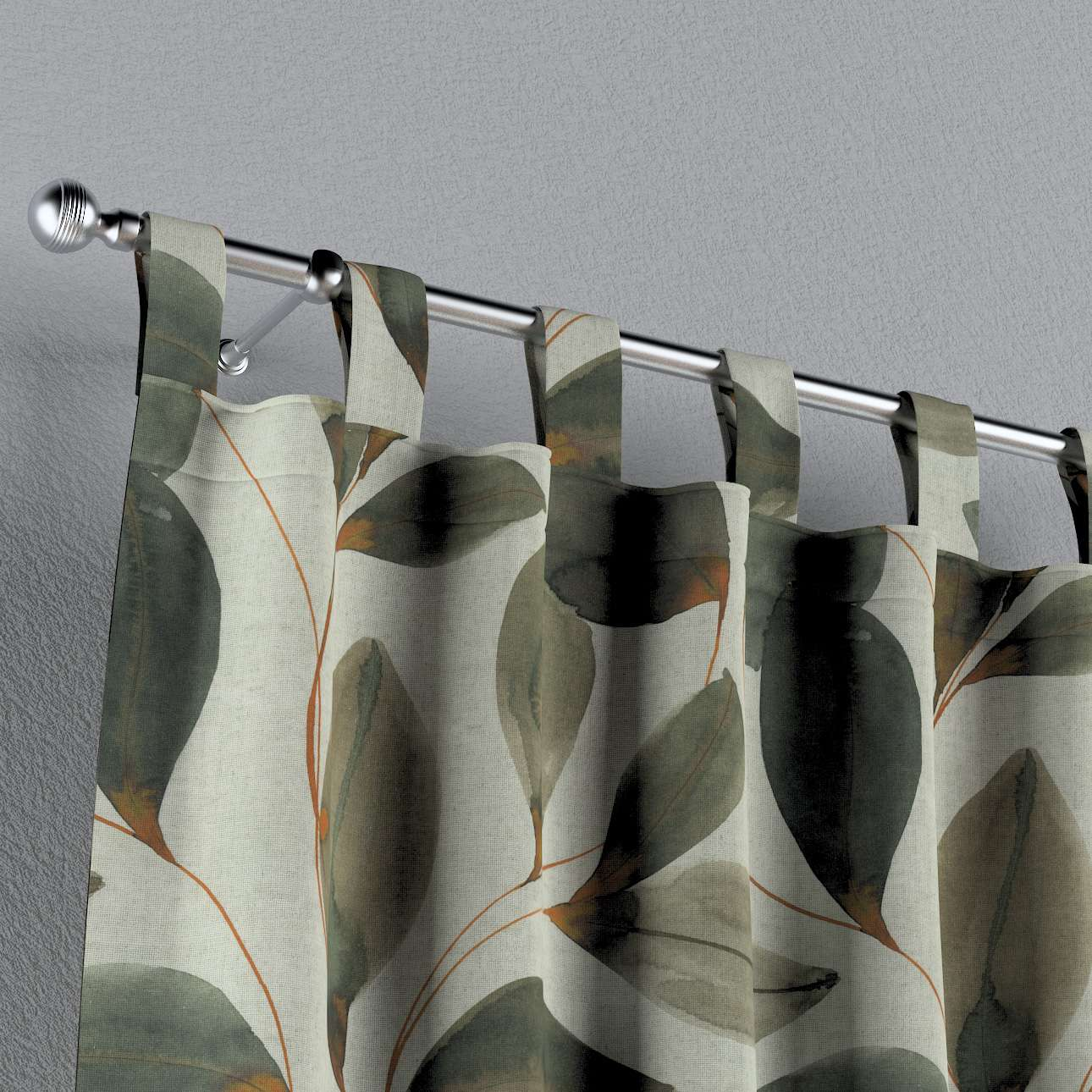Záves na pútkach V kolekcii Abigail, tkanina: 143-17