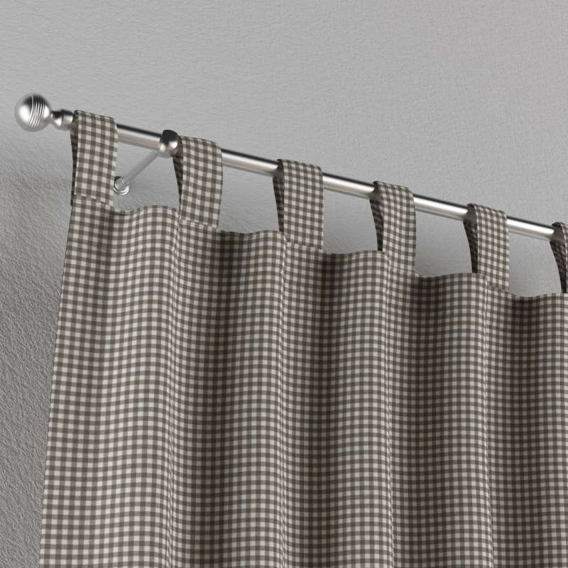 Gardin med stropper 1 stk. fra kollektionen Quadro II, Stof: 136-10