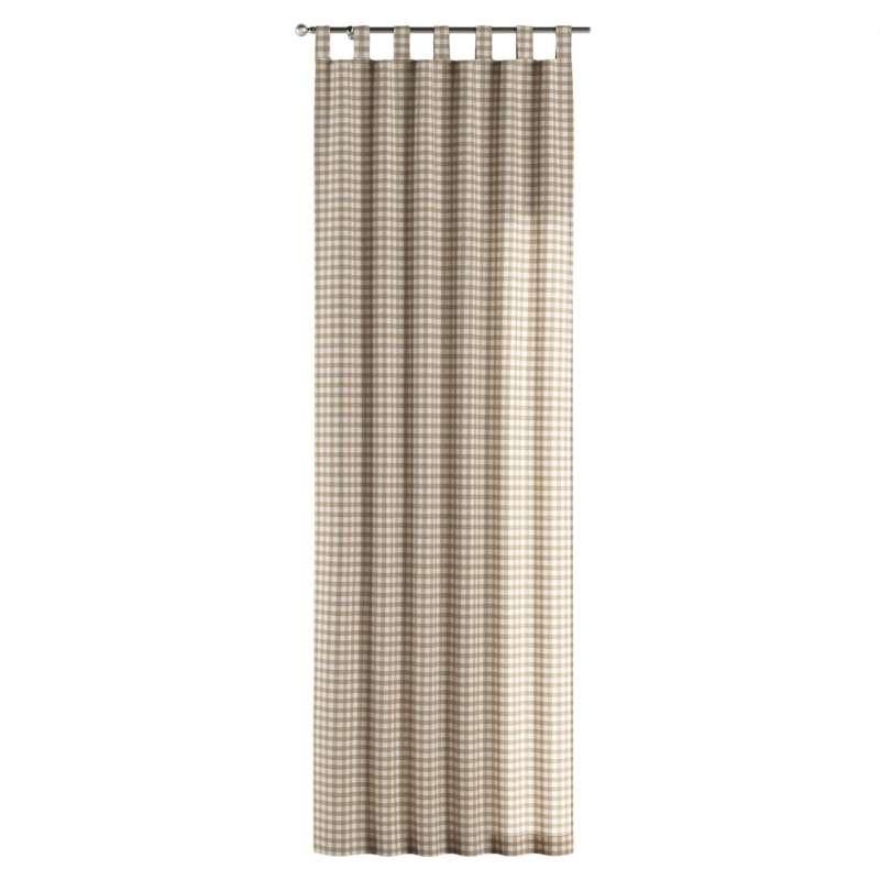 Gardin med stropper 1 stk. fra kollektionen Quadro II, Stof: 136-06