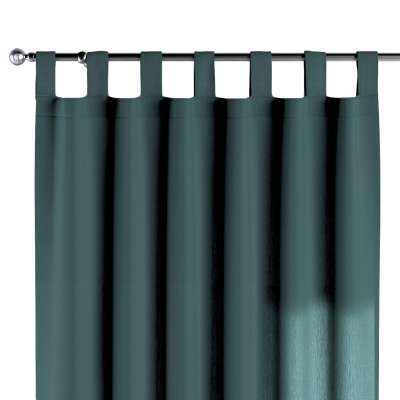 Tab top curtain 159-09 off emerald green Collection Linen
