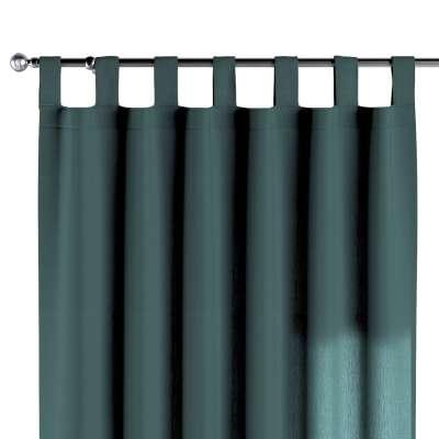 Závěs na poutkach 159-09 tlumená smaragdová Kolekce Linen