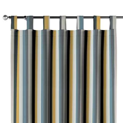 Schlaufenschal 143-59 blau-gelb-grau Kollektion Vintage 70's