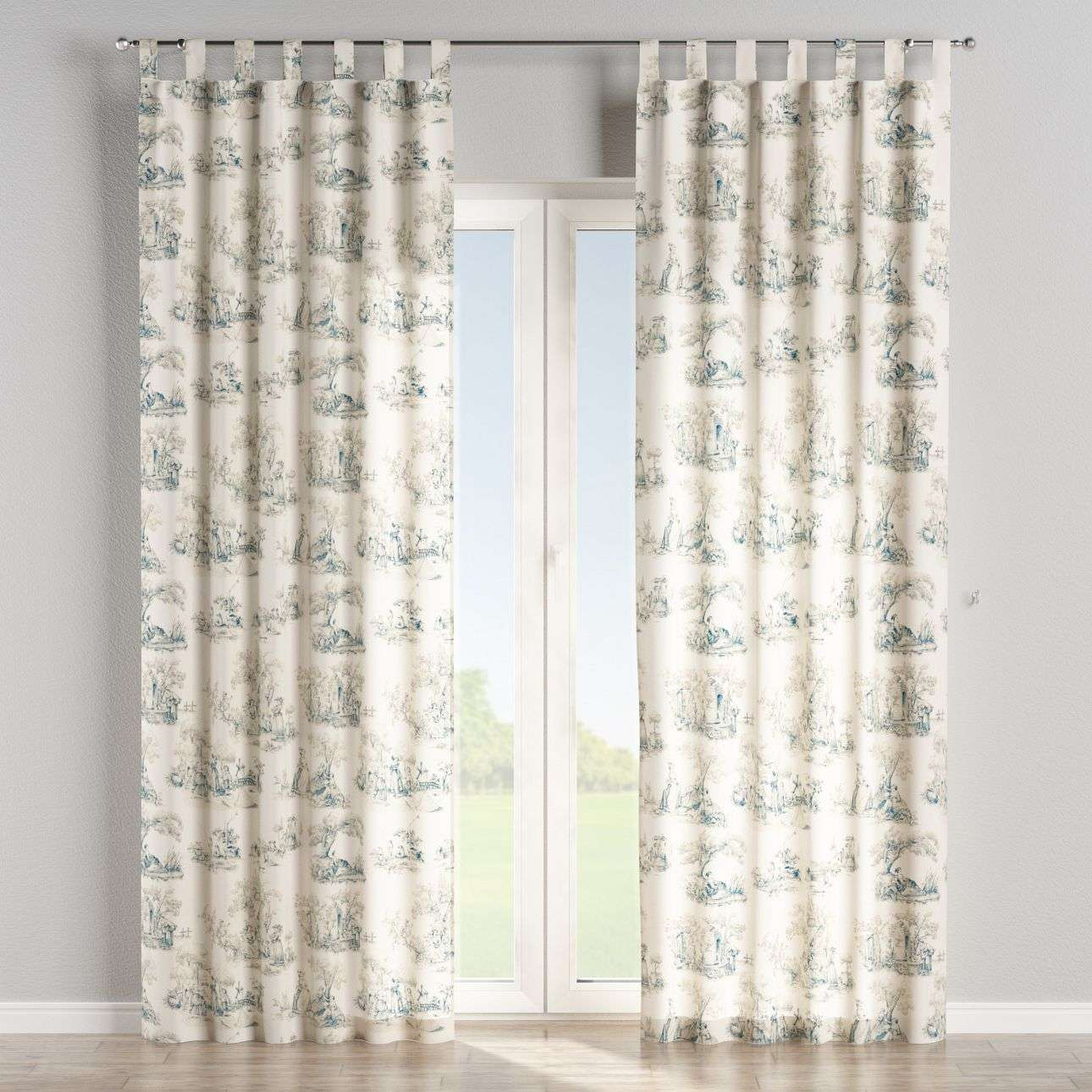 Tab top curtains 130 x 260 cm (51 x 102 inch) in collection Avinon, fabric: 132-66