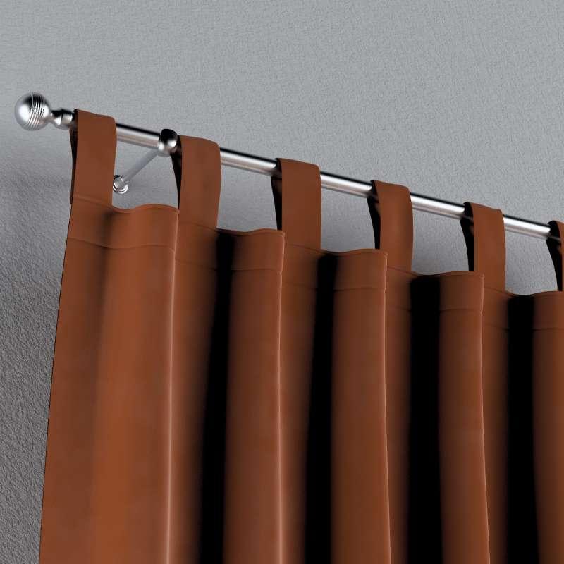 Zasłona na szelkach 1 szt. w kolekcji Velvet, tkanina: 704-33