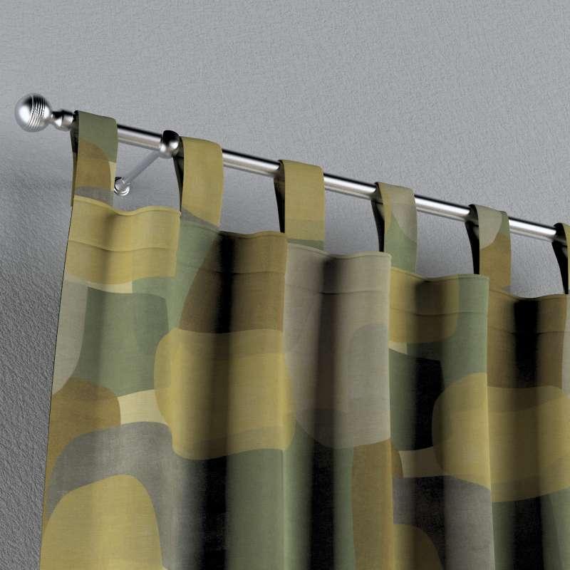 Zasłona na szelkach 1 szt. w kolekcji Vintage 70's, tkanina: 143-72
