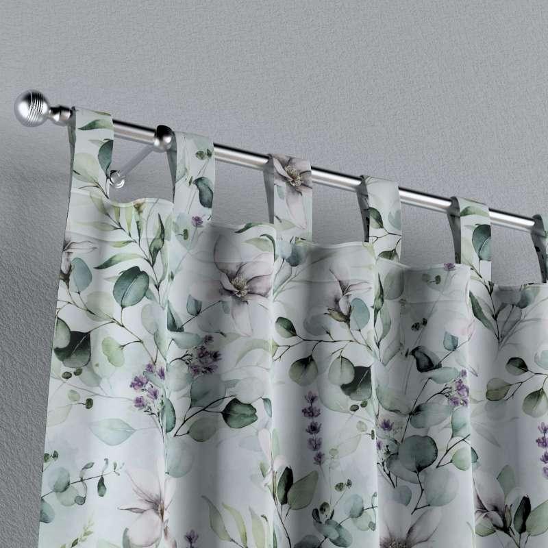 Záves na pútkach V kolekcii Flowers, tkanina: 143-66