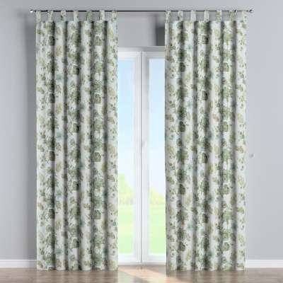 Tab top curtain 143-67 beige- green Collection Flowers