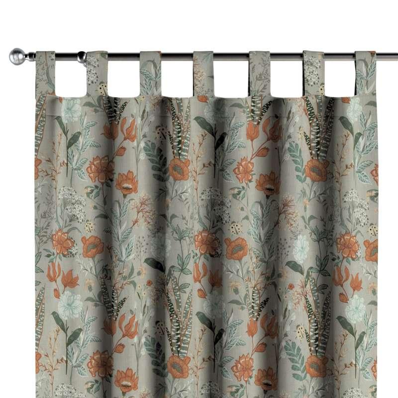 Zasłona na szelkach 1 szt. w kolekcji Flowers, tkanina: 143-70