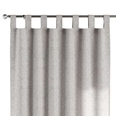 Tab top curtain 140-49 glossy pattern on grey background Collection Christmas