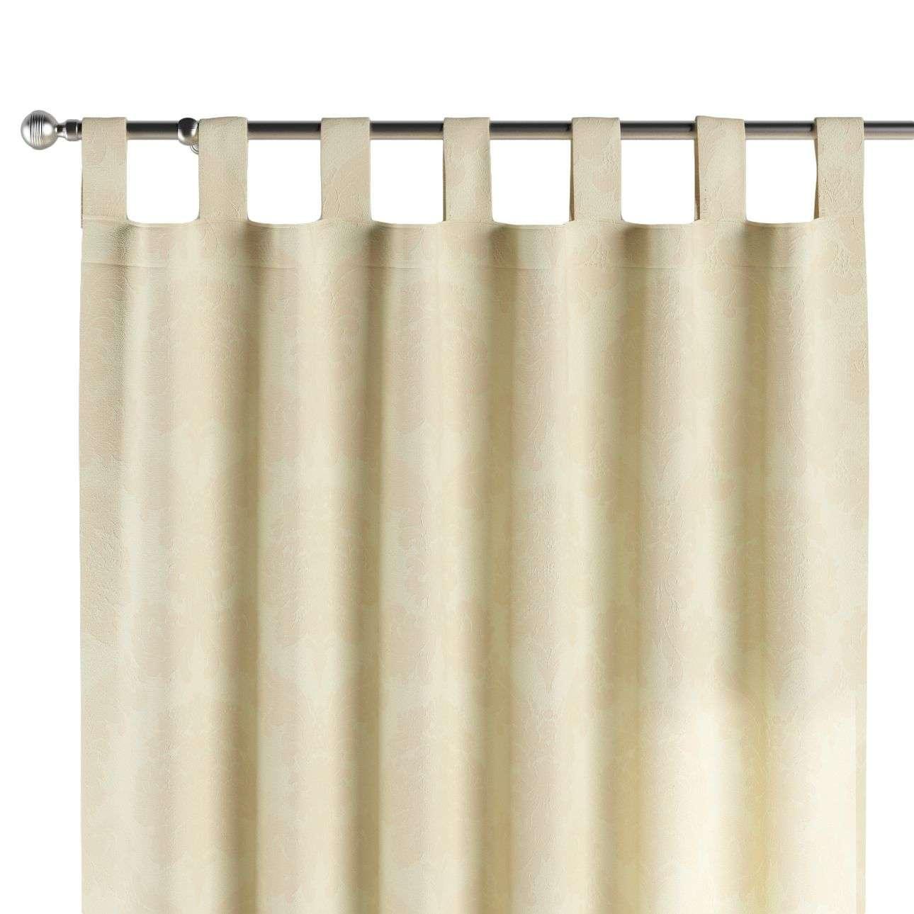 Gardin med stropper 130 x 260 cm fra kollektionen Damasco, Stof: 613-01