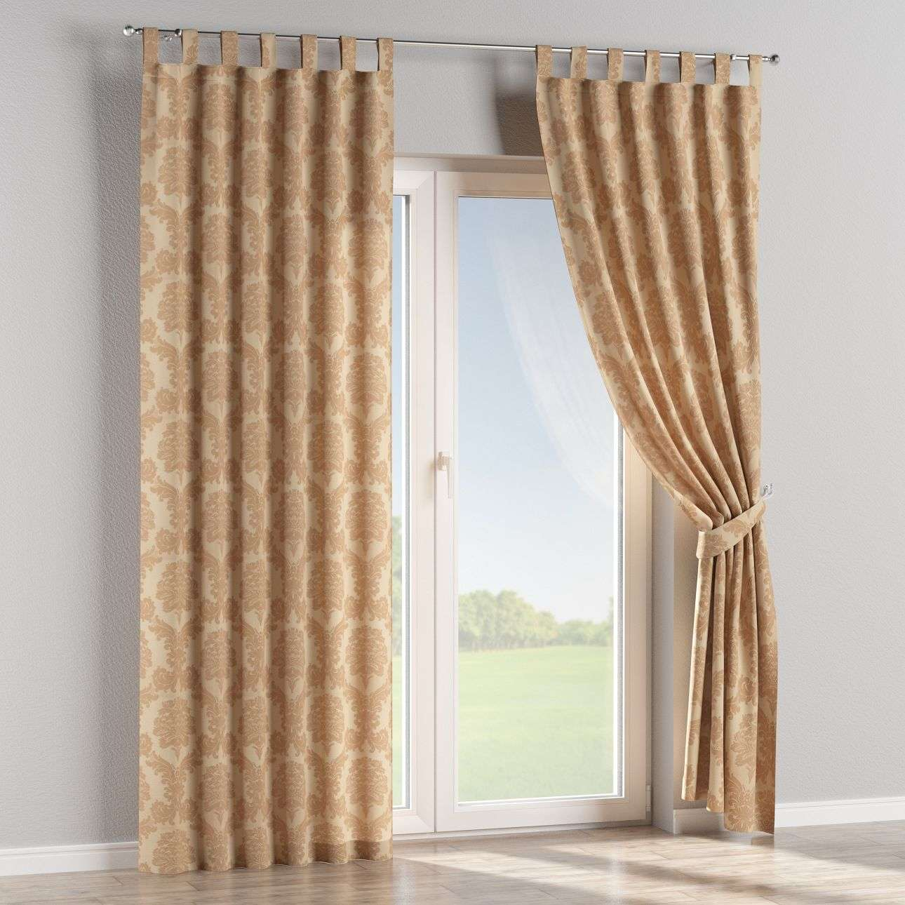 Tab top curtains 130 x 260 cm (51 x 102 inch) in collection Damasco, fabric: 613-04