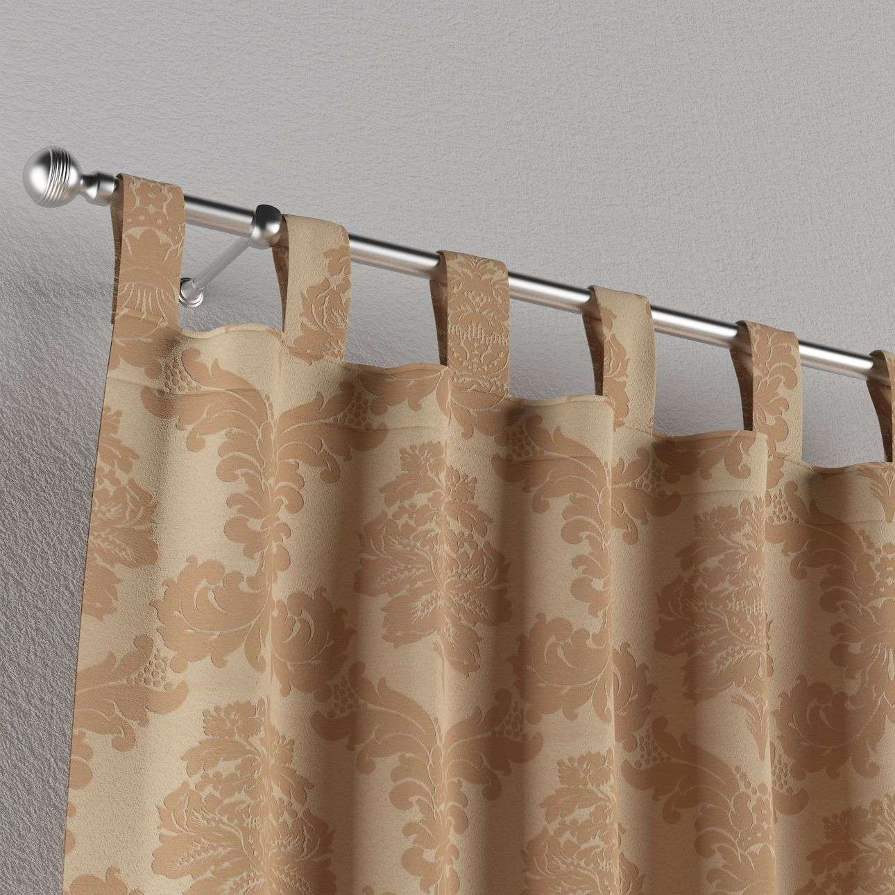 Tab top curtains 130 × 260 cm (51 × 102 inch) in collection Damasco, fabric: 613-04