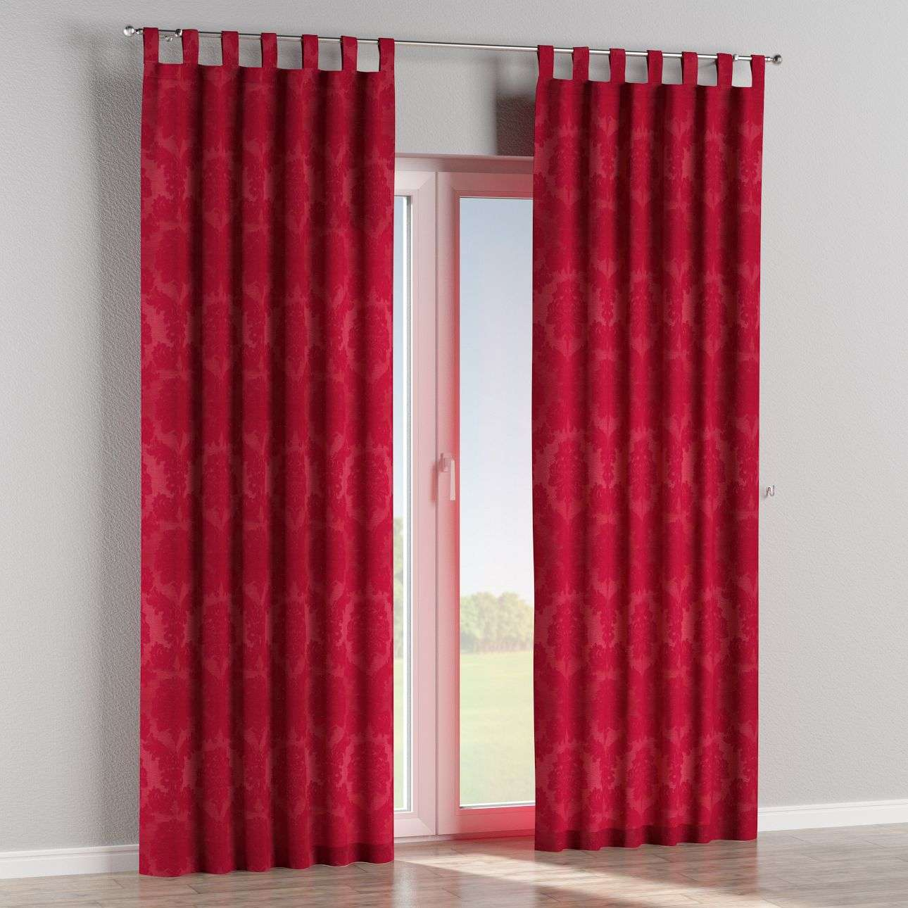 Tab top curtains in collection Damasco, fabric: 613-13