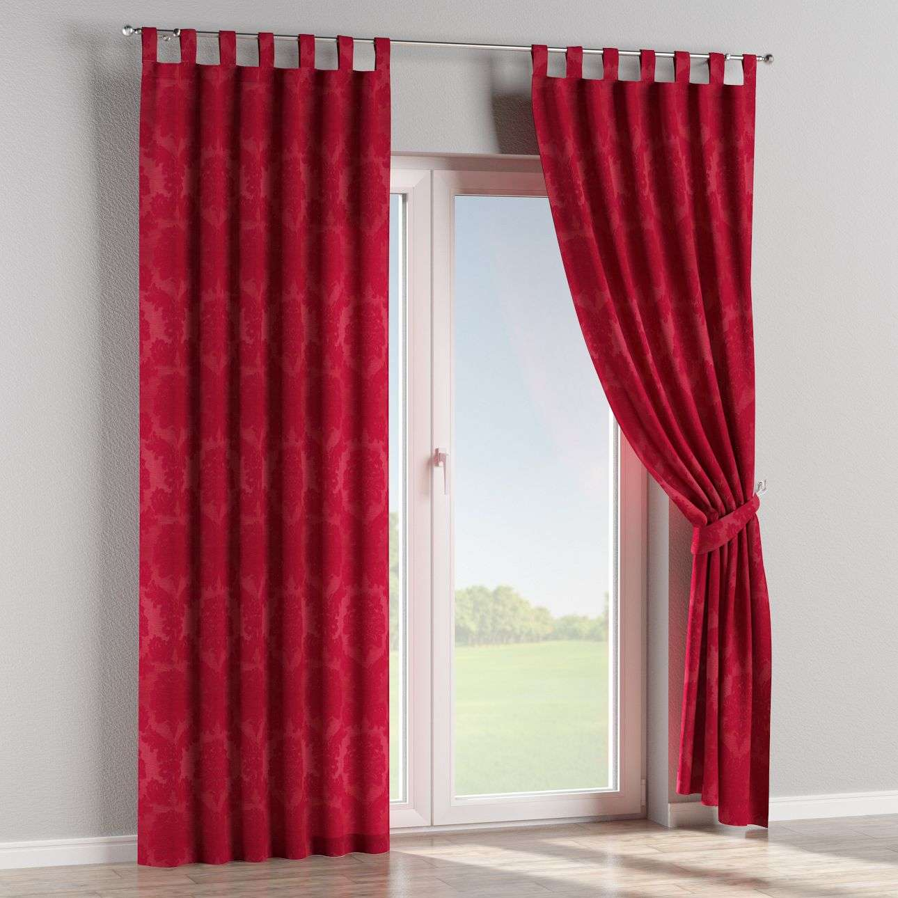 Tab top curtains 130 × 260 cm (51 × 102 inch) in collection Damasco, fabric: 613-13