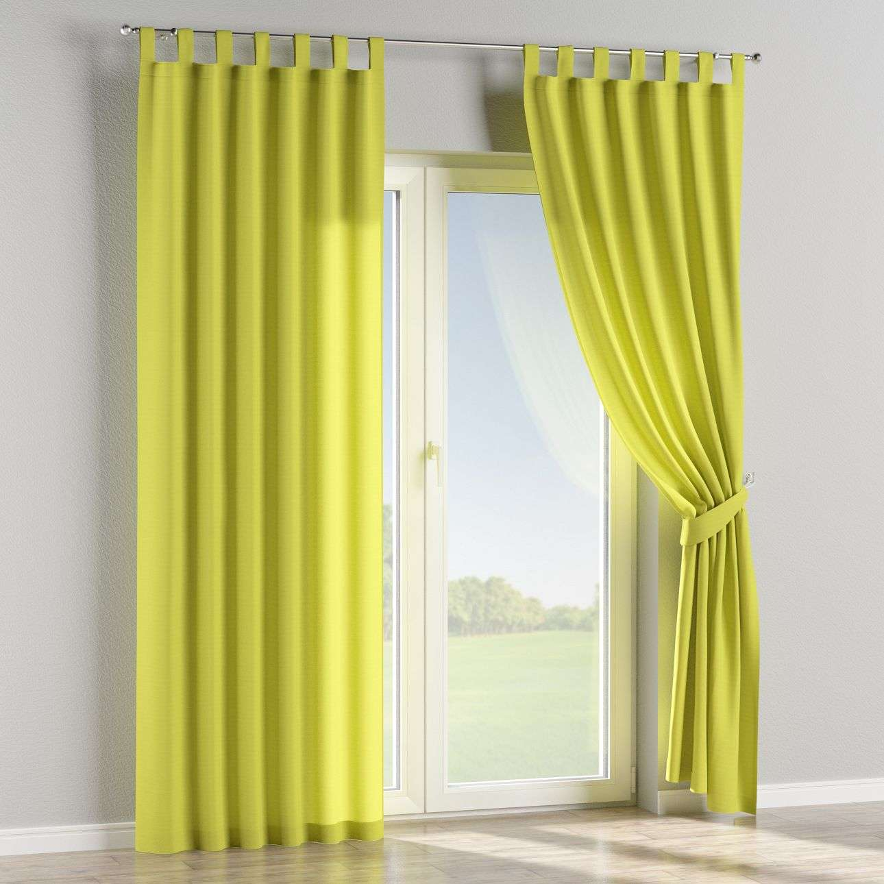 Tab top curtains in collection Jupiter, fabric: 127-50