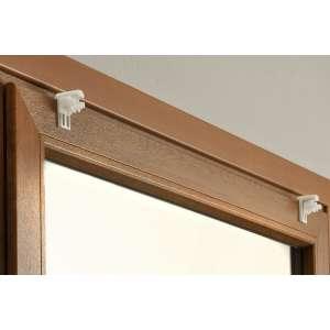 Bevestigingselement voor de montage van gordijnen op het raamkozijn (2 st.) 4 x 6 cm