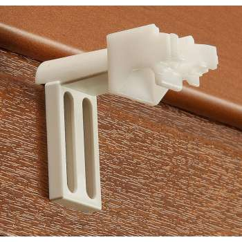 Romanečių/roletų tvirtinimo prie lango rėmo priedai - 2 vnt. rinkinyje 4 x 6 cm