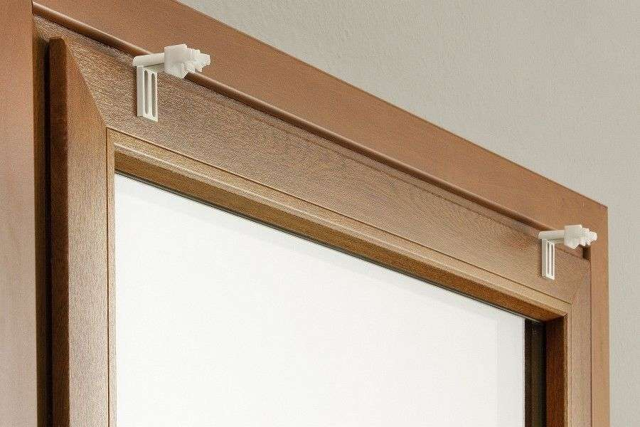 Befestigungselemente für Raffrollos am Fensterrahmen (2 Stk.) 4 x 6 cm