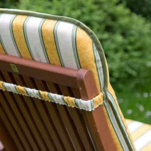 Kėdės čiužinys 120x50x6cm žalios ir geltonos juostos 120x50x6cm