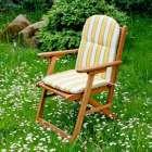 Kėdės čiužinys 94x40x3,5, žalios ir geltonos juostos 94x40x3,5cm
