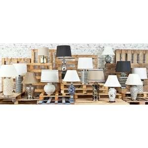 Lampa stołowa Sayaka ceramiczna 73cm 73cm